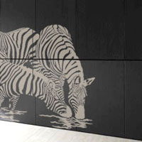 zebra animals stencil